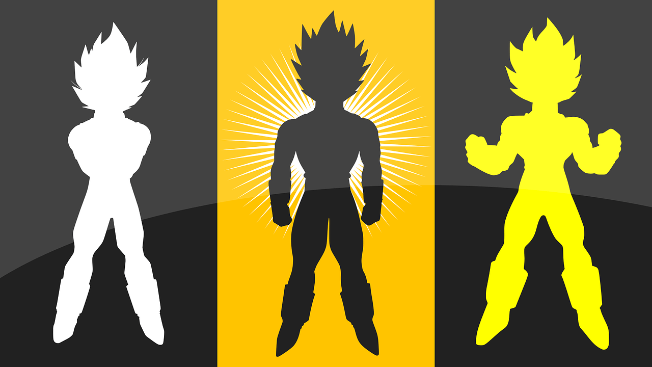 silueta vegeta dragon ball
